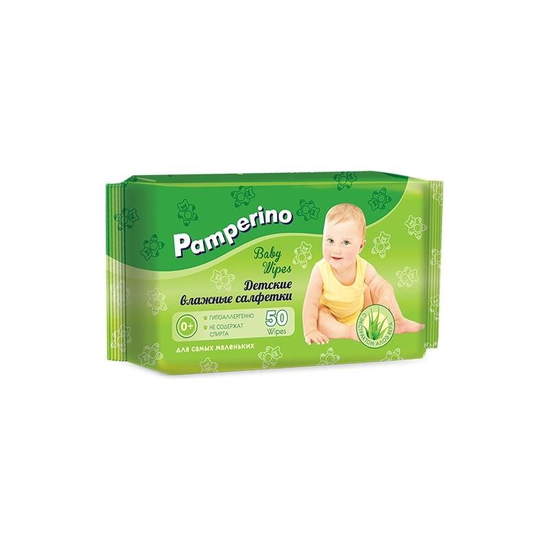 Влажные салфетки PAMPERINO 48498 влажные салфетки pamperino 80 детские без отдушки pamperino
