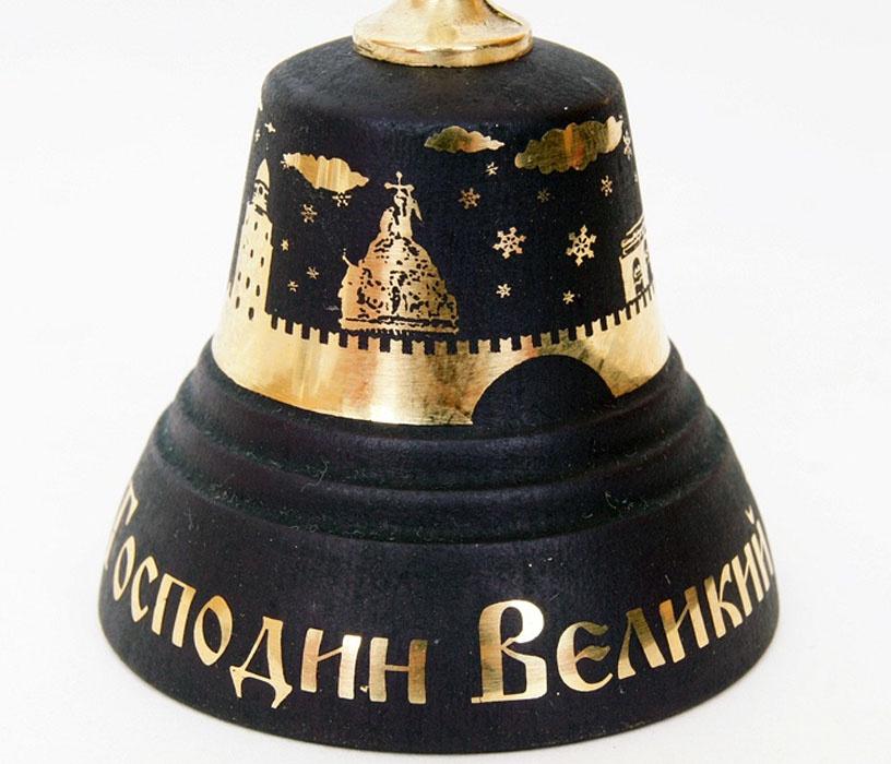 Народный сувенир Колокольчик Валдайский KVN3, бронза, черный колокольчик гипсофила ползучая розовая 0 1 г
