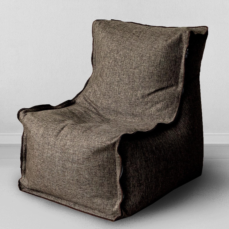 Кресло MyPuff Лофт, коричневый набор чехлов для дивана и кресел мартекс с карманами 3 предмета 05 0751 3