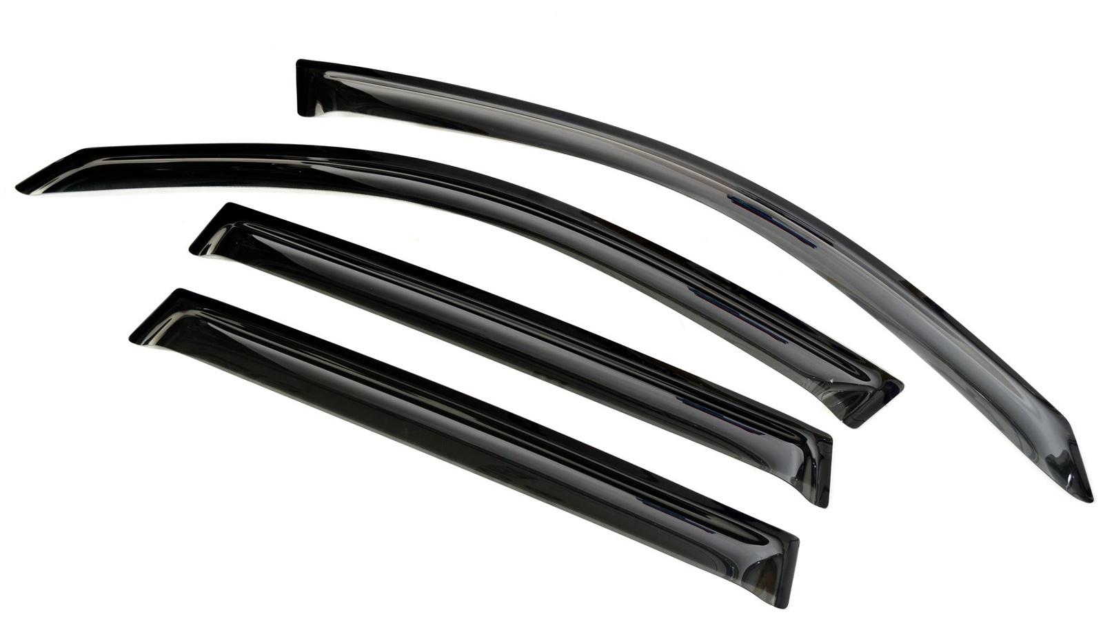 Ветровик SIM Дефлекторы боковых окон BMW X3 (2011-2017) 4дв (темный)
