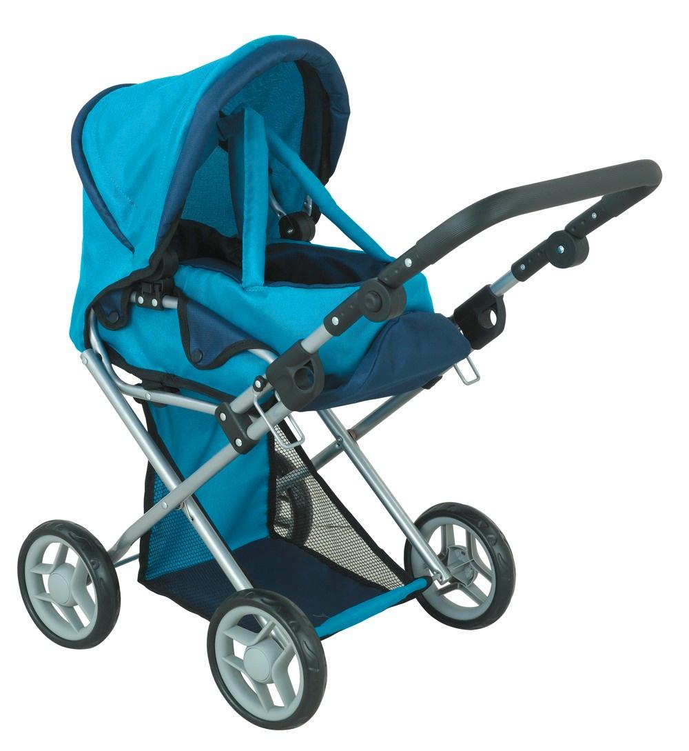 коляска для кукол Buggy Boom Коляска-трансформер для кукол, классическая 2-в-1 8450B Infinia (Инфиниа) синий