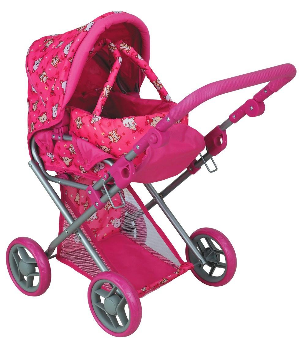 коляска для кукол Buggy Boom Коляска-трансформер для кукол, классическая 2-в-1 8450C Infinia (Инфиниа) розовый