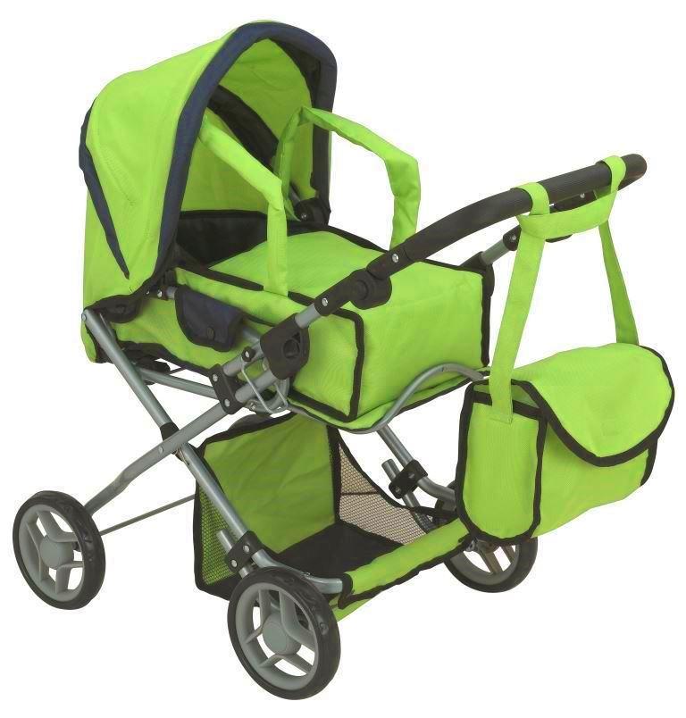 коляска для кукол Buggy Boom Коляска-трансформер для кукол 2-в-1 8454B Infinia (Инфиниа) салатовый рессора 150200250