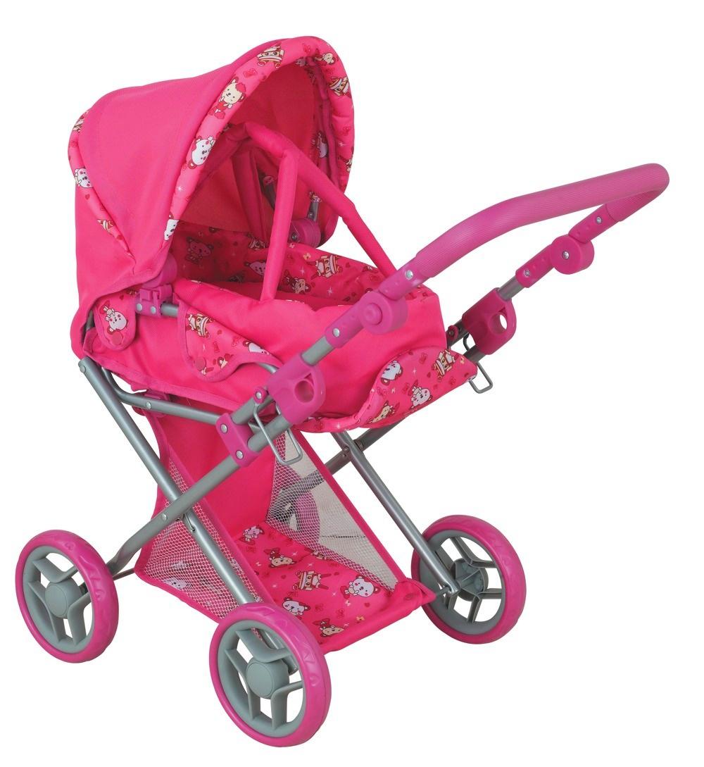 коляска для кукол Buggy Boom Коляска-трансформер для кукол, классическая 2-в-1 8450A Infinia (Инфиниа) темно-розовый