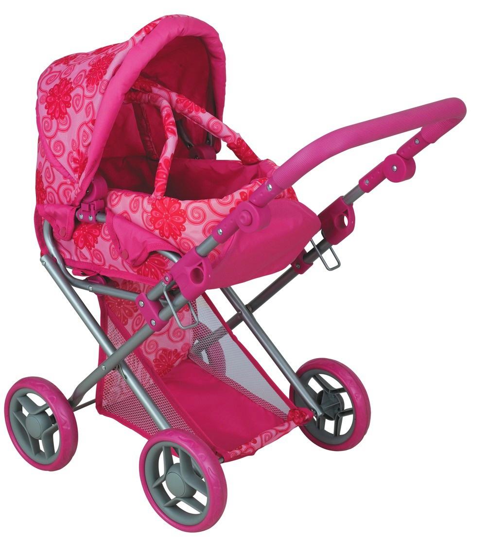 коляска для кукол Buggy Boom Коляска-трансформер для кукол, классическая 2-в-1 8450A Infinia (Инфиниа) розовый