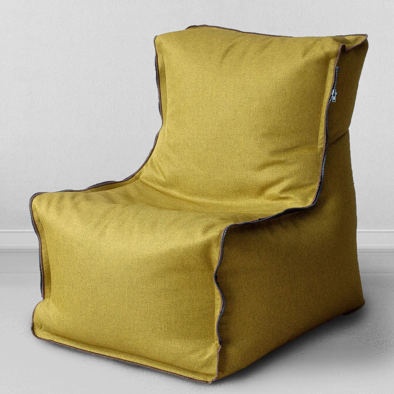 Кресло MyPuff Мальмо, горчичный набор чехлов для дивана и кресел мартекс с карманами 3 предмета 05 0751 3