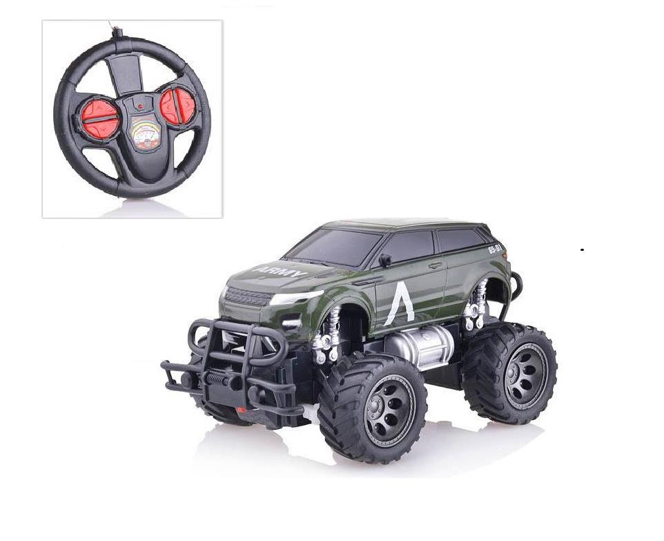 Машинка радиоуправляемая S+S TOYS Внедорожник масштаб 1:24 зеленый автомобиль на радиоуправлении s s toys 101036658 на батарейках белый