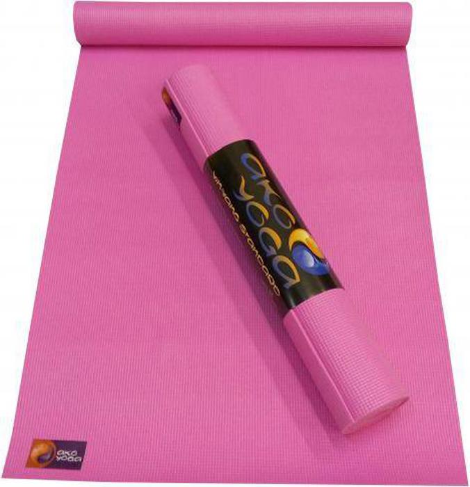 Коврик для йоги и фитнеса Ako Yoga Асана Стандарт, розовый, 185 х 60 х 0,4 см цена