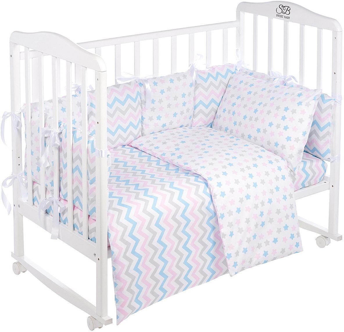 Комплект в кроватку Sweet Baby Colori Bianco, 420975, белый, 4 предмета