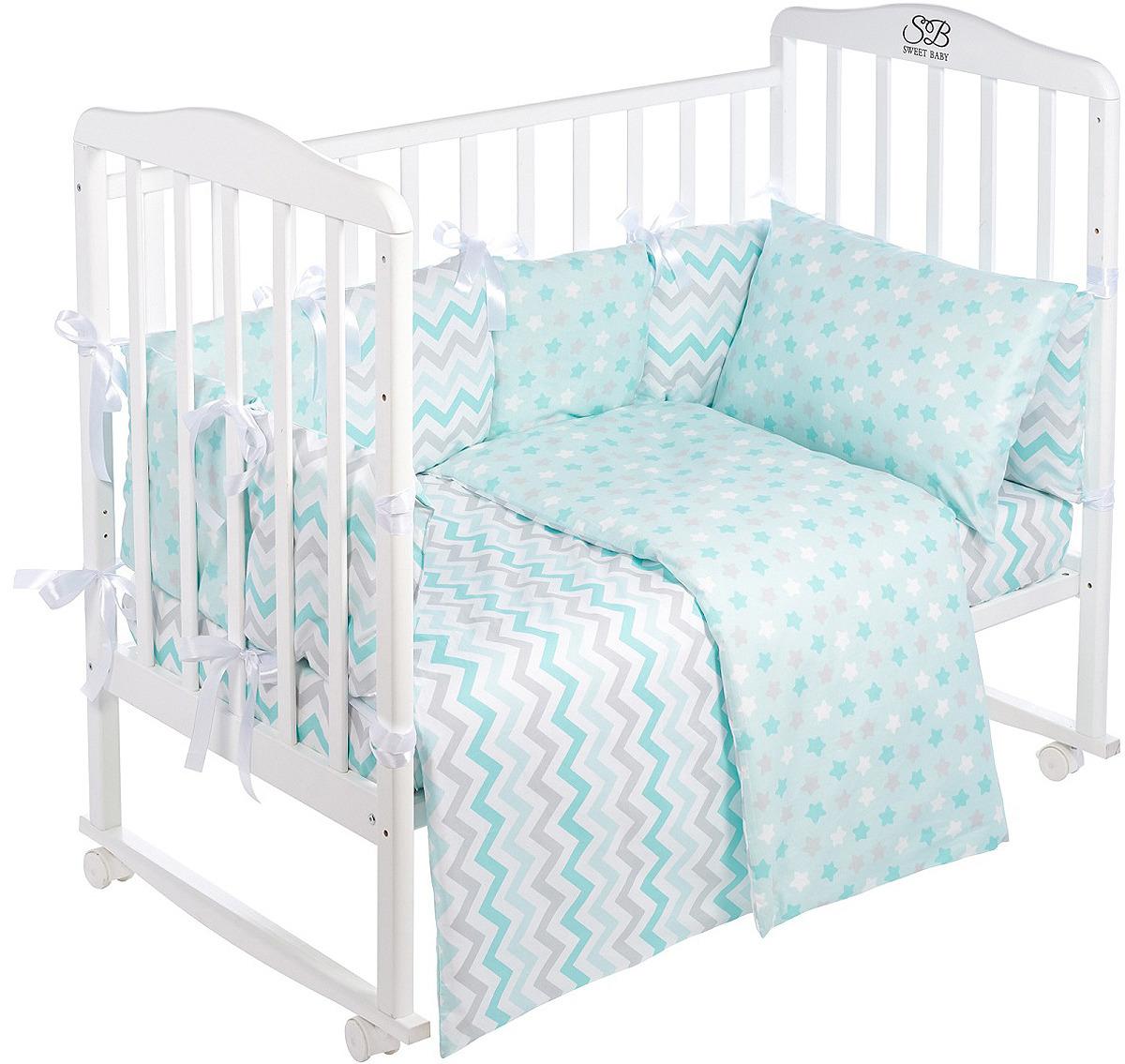 Комплект в кроватку Sweet Baby Colori Blu, 420976, голубой, 4 предмета