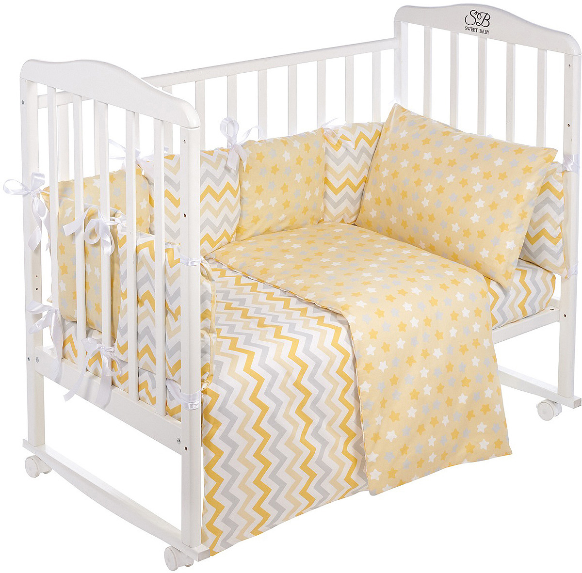 Комплект в кроватку Sweet Baby Colori Giallo, 420977, желтый, 4 предмета