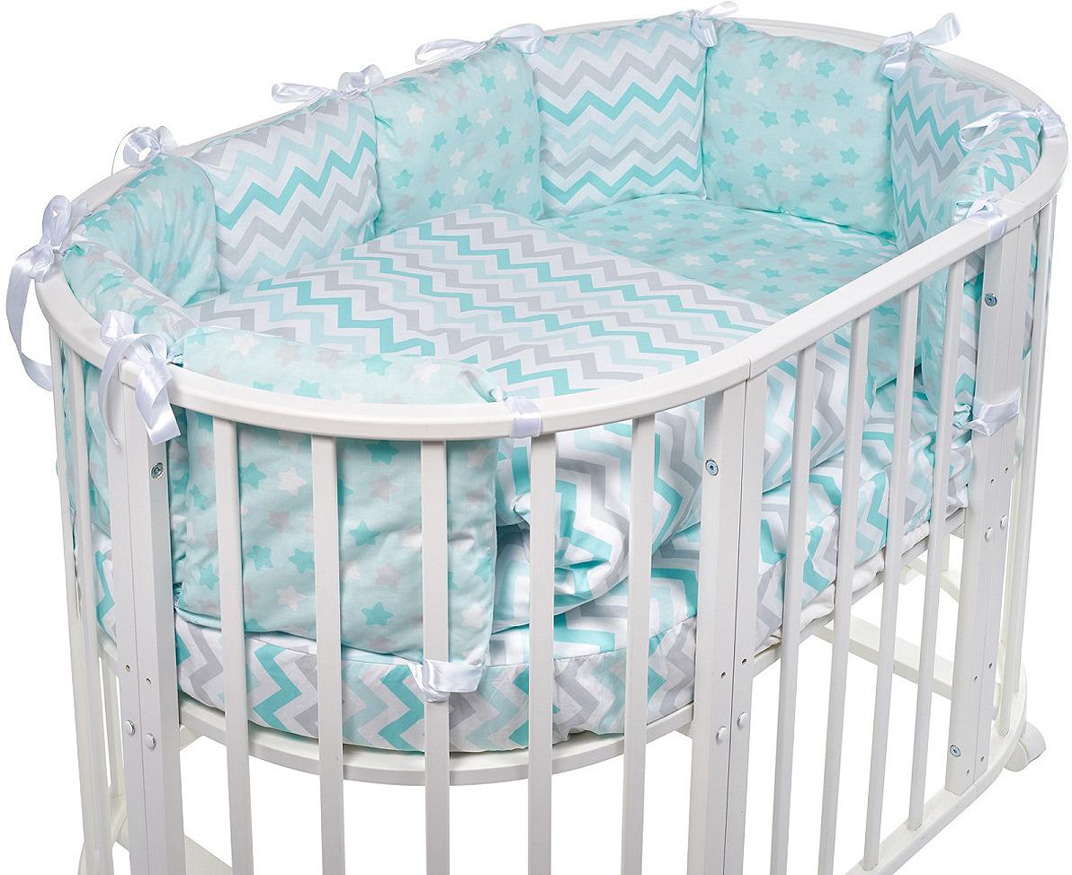Комплект в кроватку Sweet Baby Colori Blu, 420980, голубой, 5 предметов