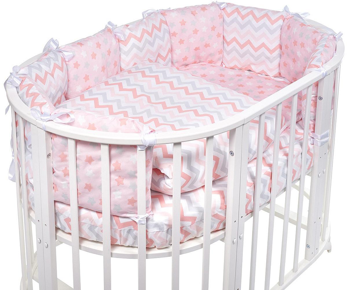 Комплект в кроватку Sweet Baby Colori Rosa, 420982, розовый, 5 предметов