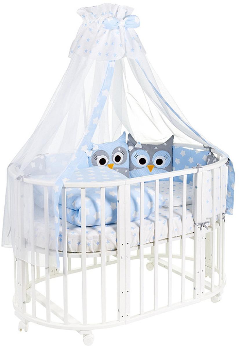 Комплект в кроватку Sweet Baby Uccellino Blu, 420983, голубой, 10 предметов