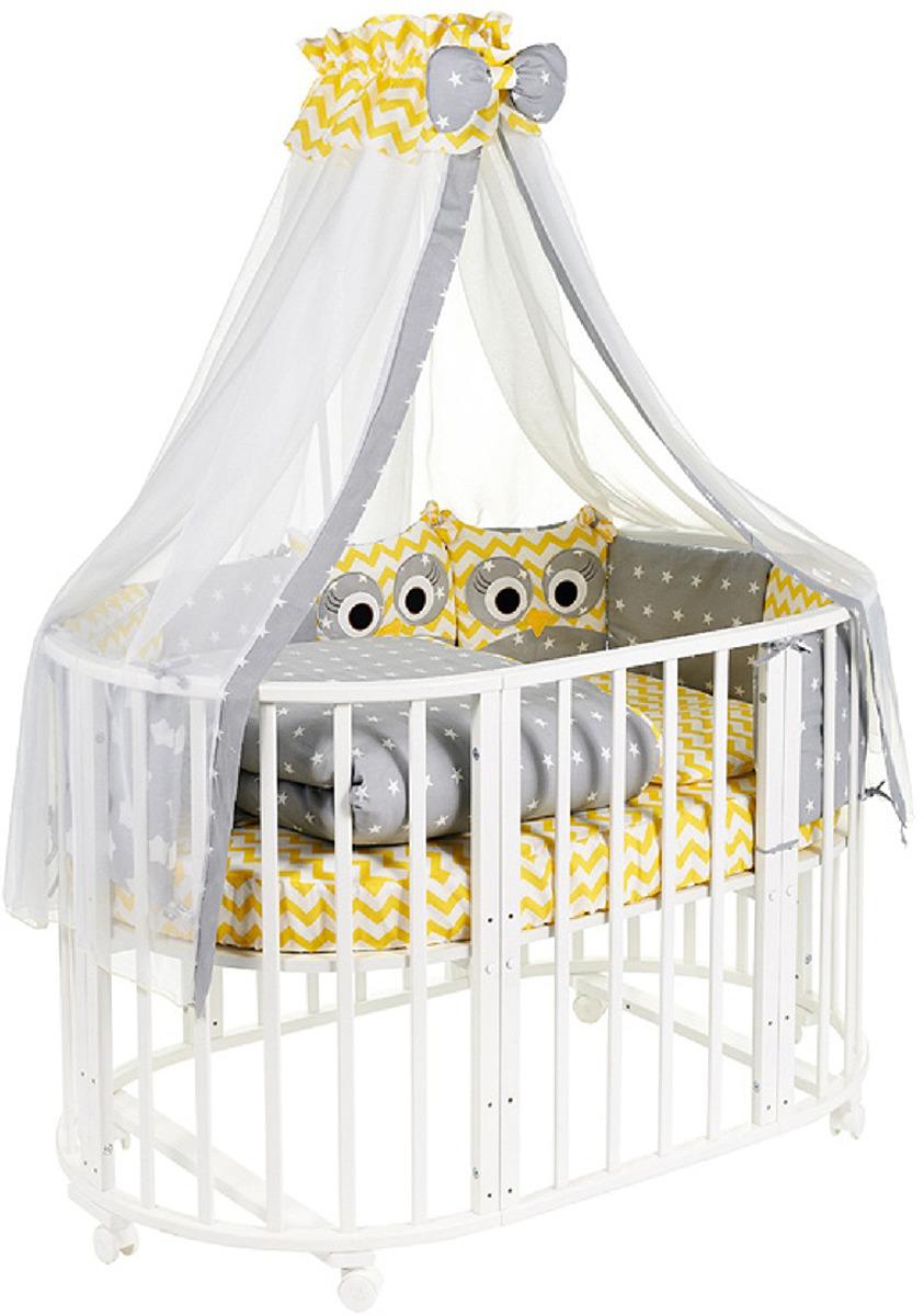 Комплект в кроватку Sweet Baby Uccellino Giallo, 420984, желтый, 10 предметов