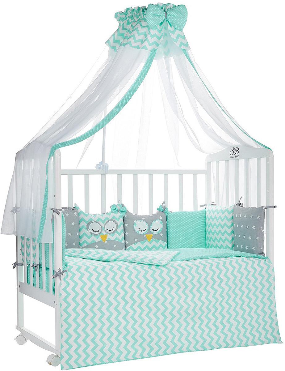 Комплект в кроватку Sweet Baby Civetta Verde, 421014, бирюзовый, 7 предметов