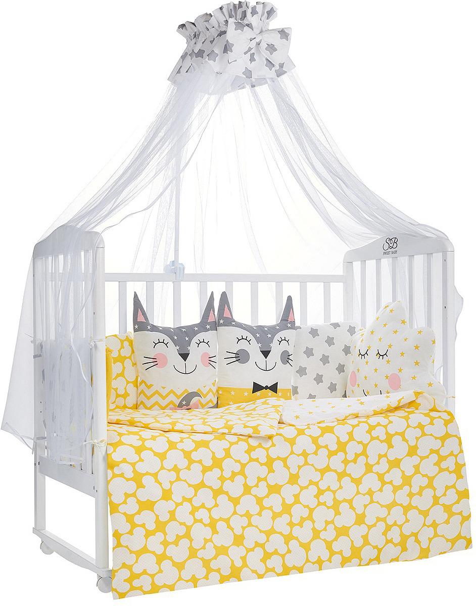 Комплект в кроватку Sweet Baby Gioia Giallo, 423277, желтый, 7 предметов