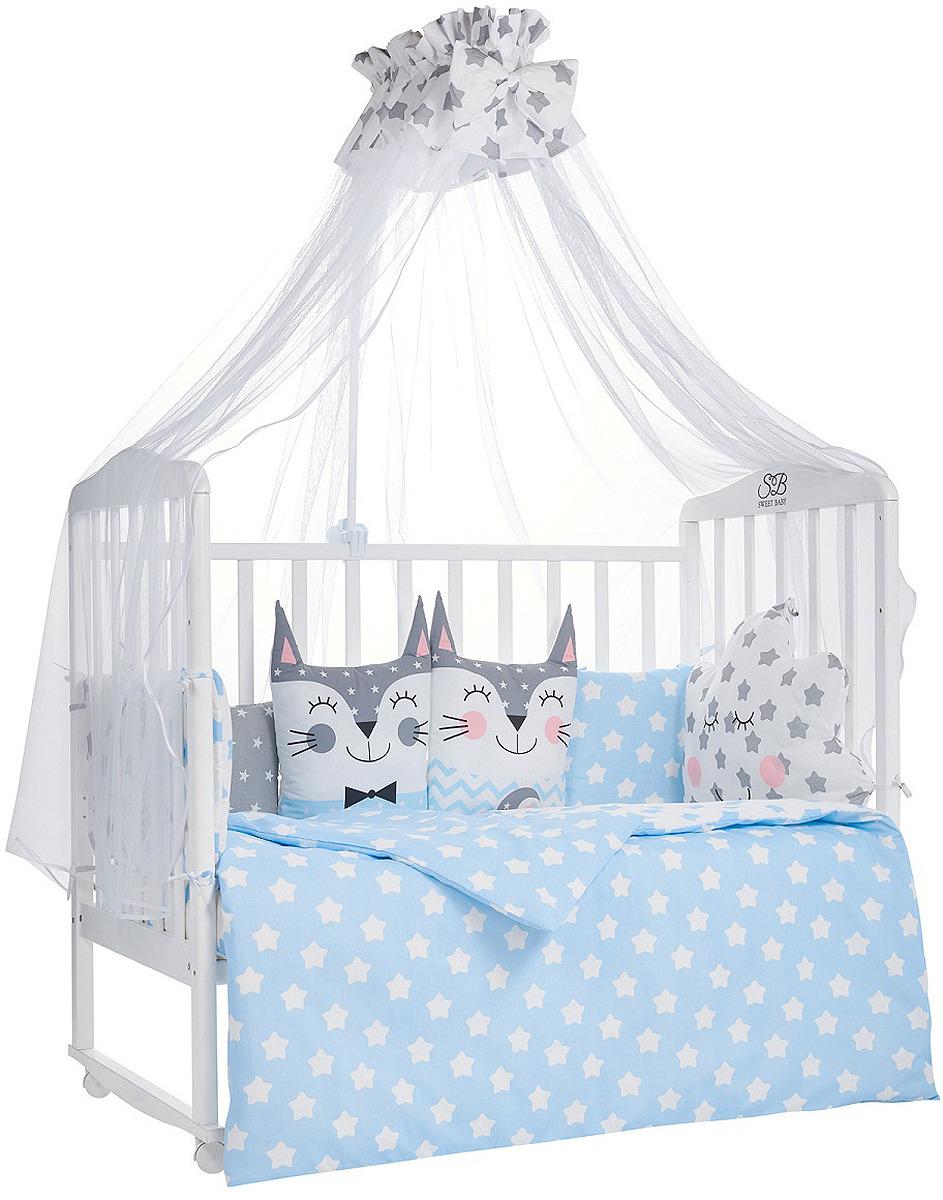 Комплект в кроватку Sweet Baby Gioia Blu, 423278, голубой, 7 предметов