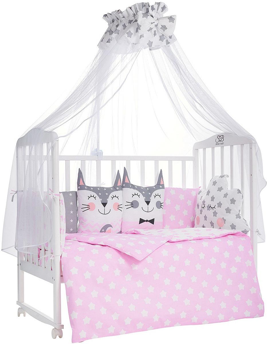 Комплект в кроватку Sweet Baby Gioia Rosa, 423279, розовый, 7 предметов
