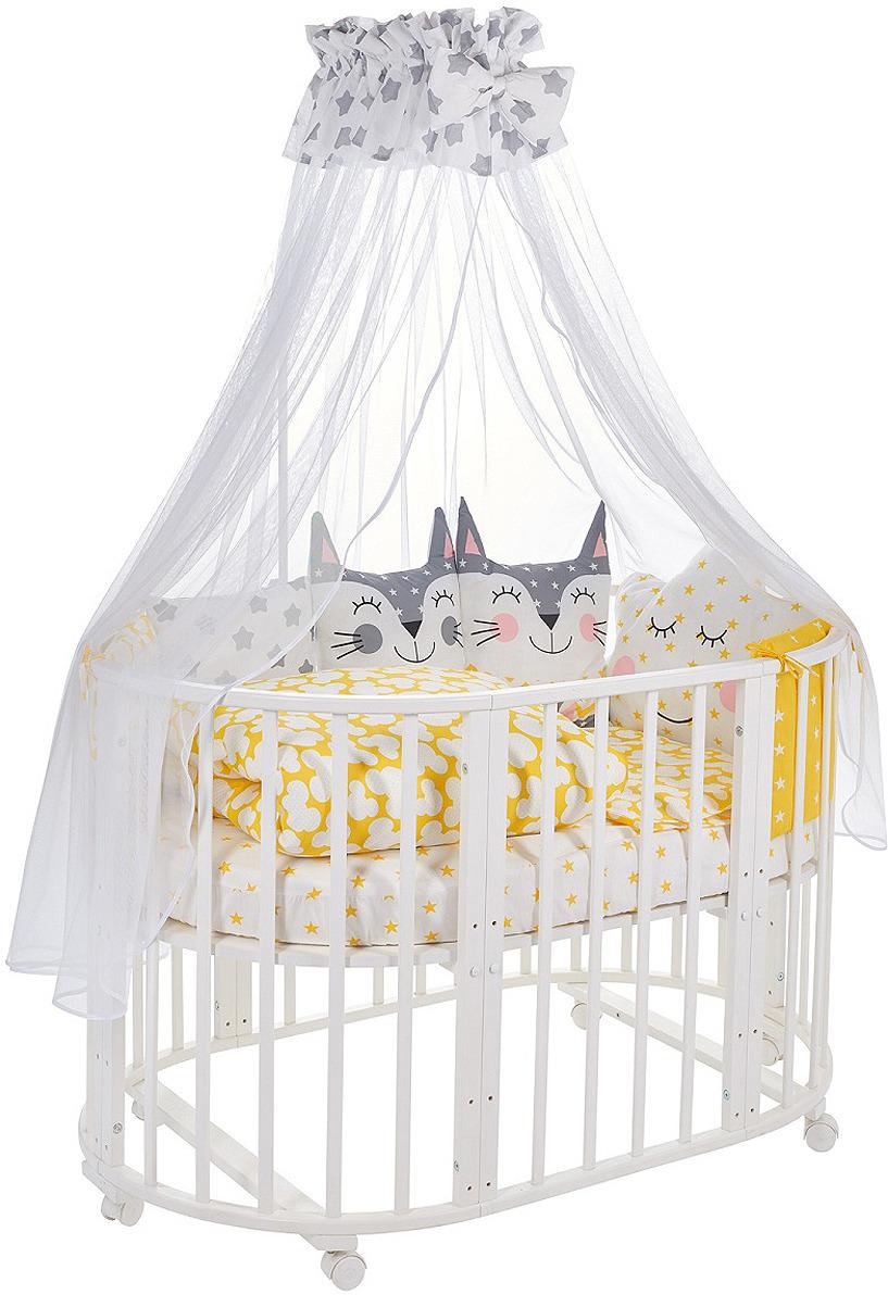 Комплект в кроватку Sweet Baby Gioia Giallo, 423280, желтый, 8 предметов