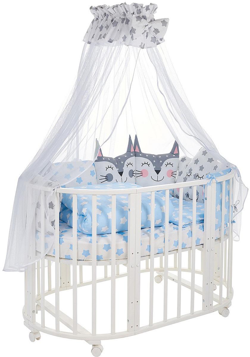 Комплект в кроватку Sweet Baby Gioia Blu, 423281, голубой, 8 предметов матрас в кроватку sweet baby favorite plus 119х59х12