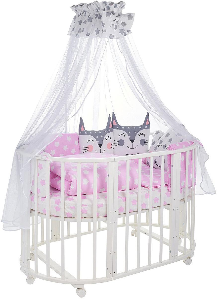Комплект в кроватку Sweet Baby Gioia Rosa, 423282, розовый, 8 предметов