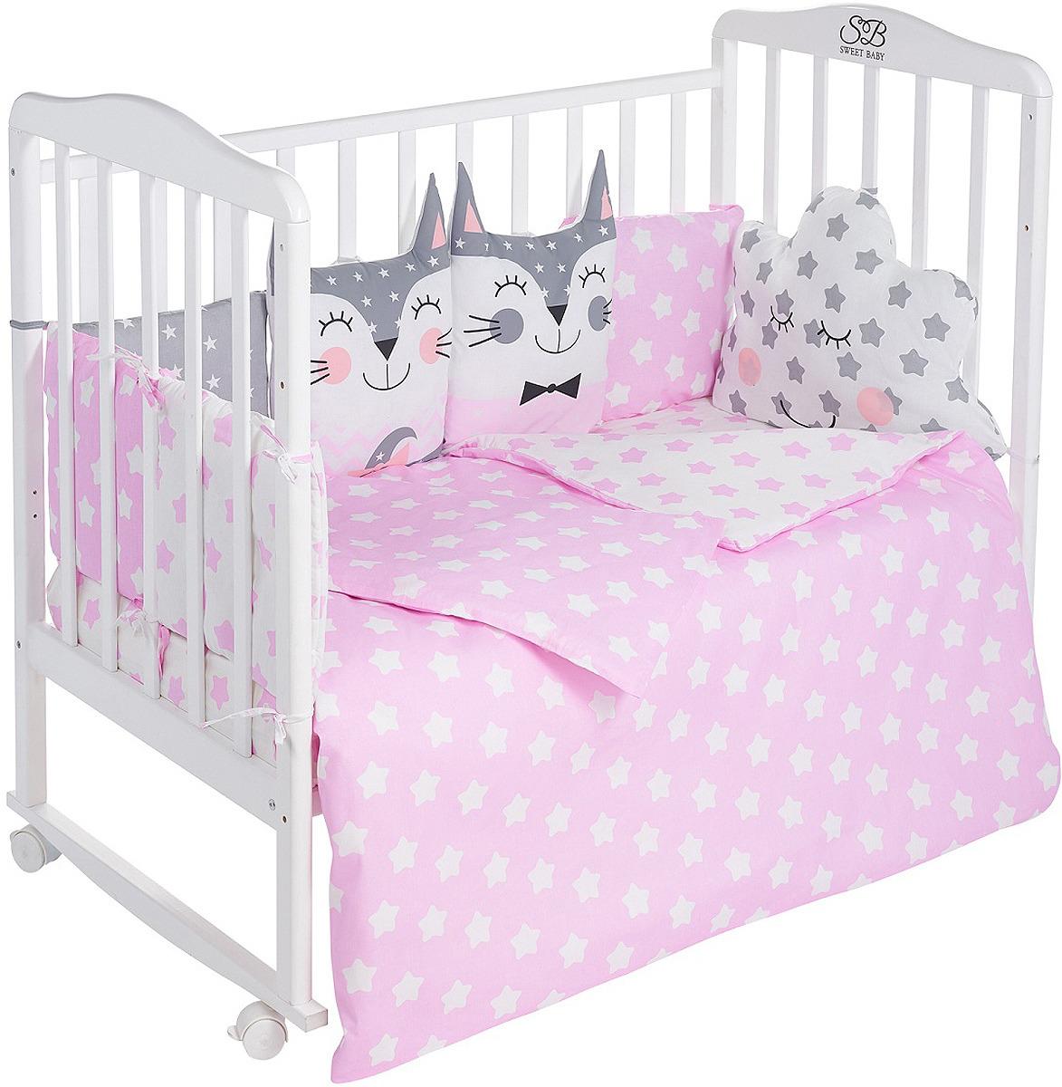 цена Комплект в кроватку Sweet Baby Gioia Rosa, 423285, розовый, 4 предмета онлайн в 2017 году