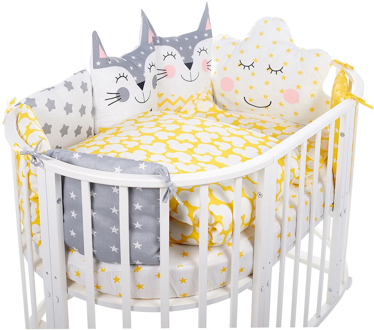Комплект в кроватку Sweet Baby Gioia Giallo, 423286, желтый, 5 предметов
