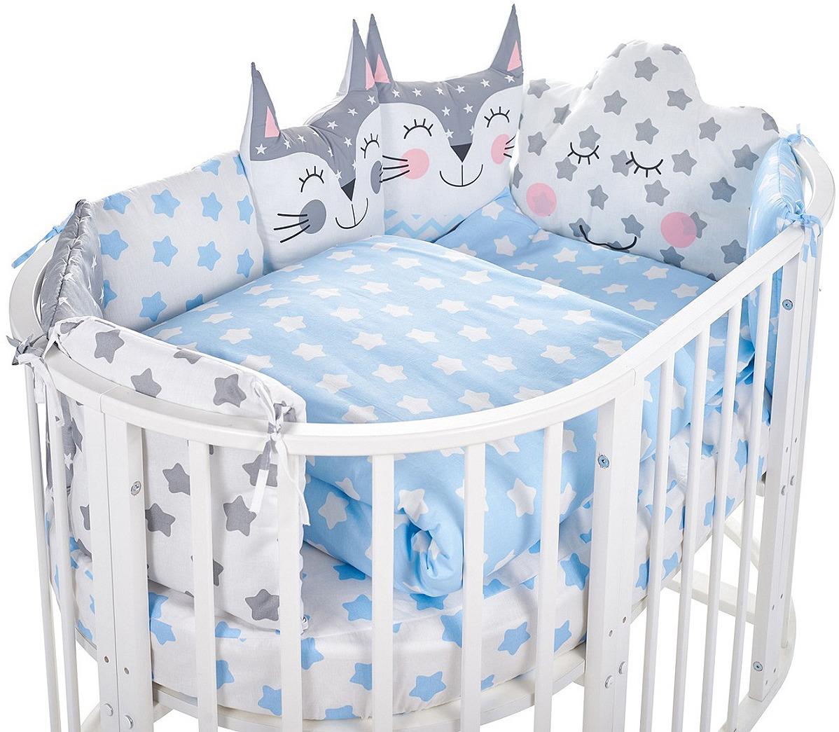 Комплект в кроватку Sweet Baby Gioia Blu, 423287, голубой, 5 предметов комплект в кроватку sweet baby uccellino turchese 420985 бирюзовый 10 предметов