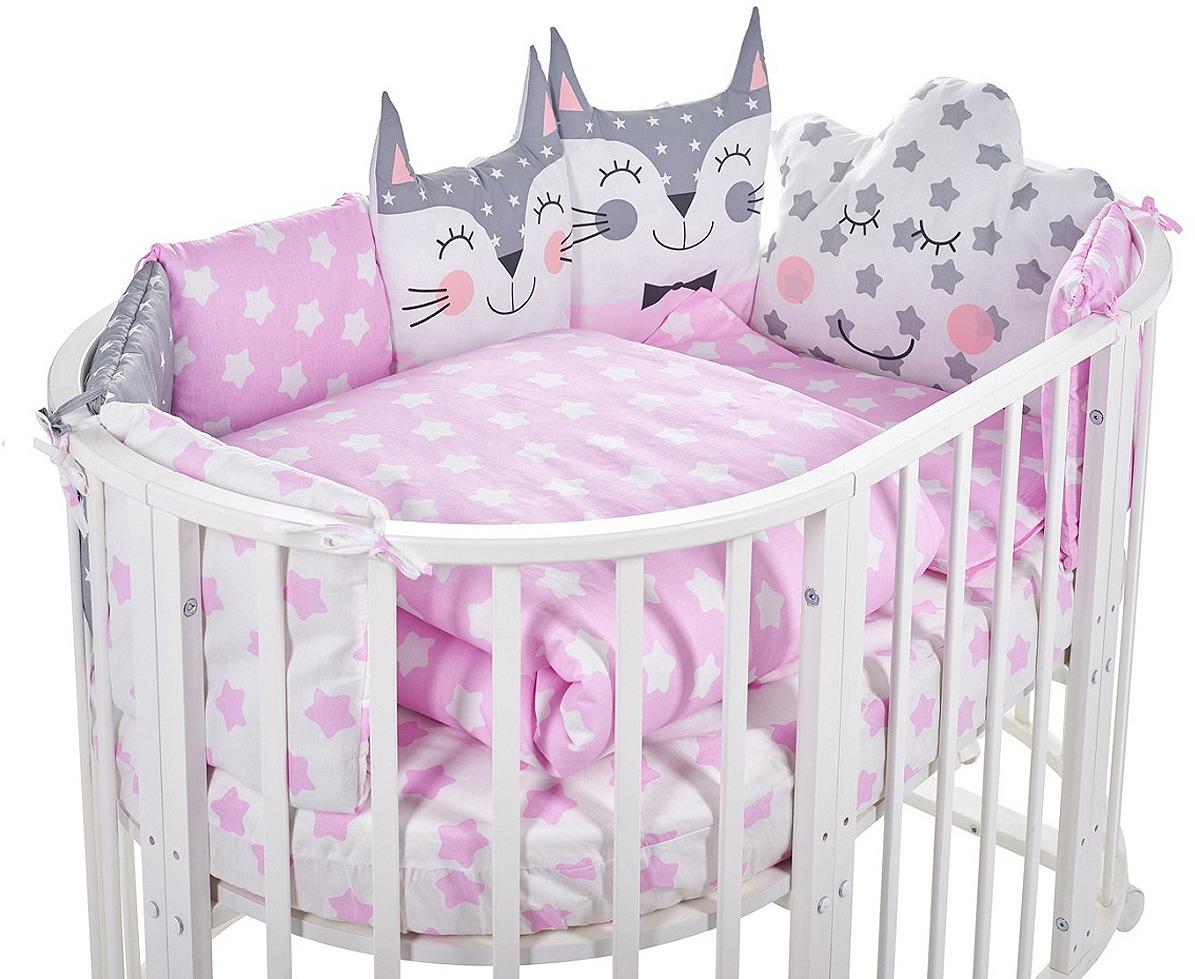 Комплект в кроватку Sweet Baby Gioia Rosa, 423288, розовый, 5 предметов комплект в кроватку sweet baby uccellino turchese 420985 бирюзовый 10 предметов