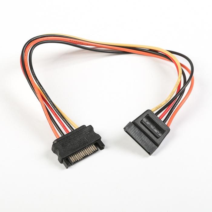 Удлинитель Cablexpert CC-SATAMF-01, черный удлинитель sata 12905