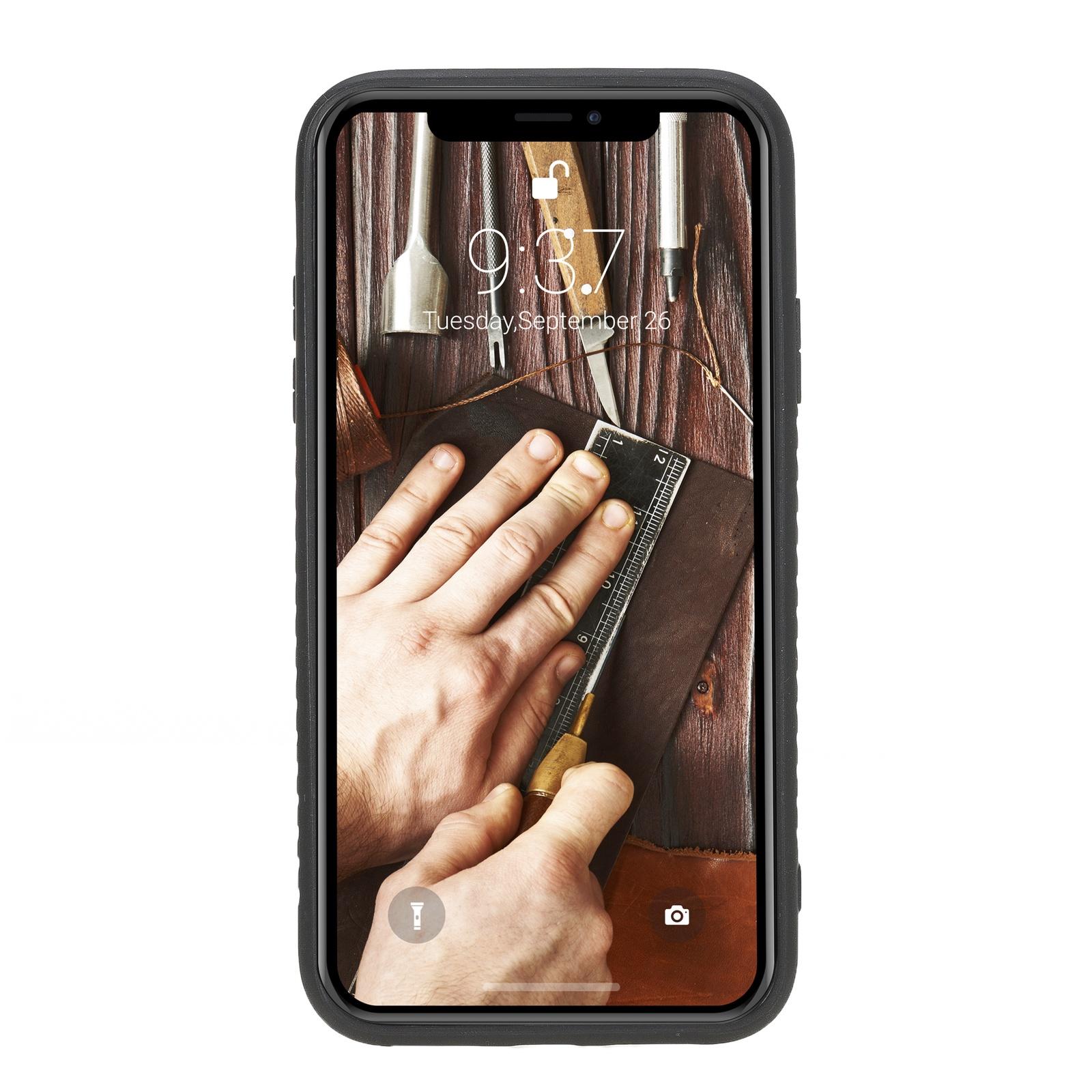 Чехол для сотового телефона Burkley для iPhone XS MAX FlexCover, темно-коричневый