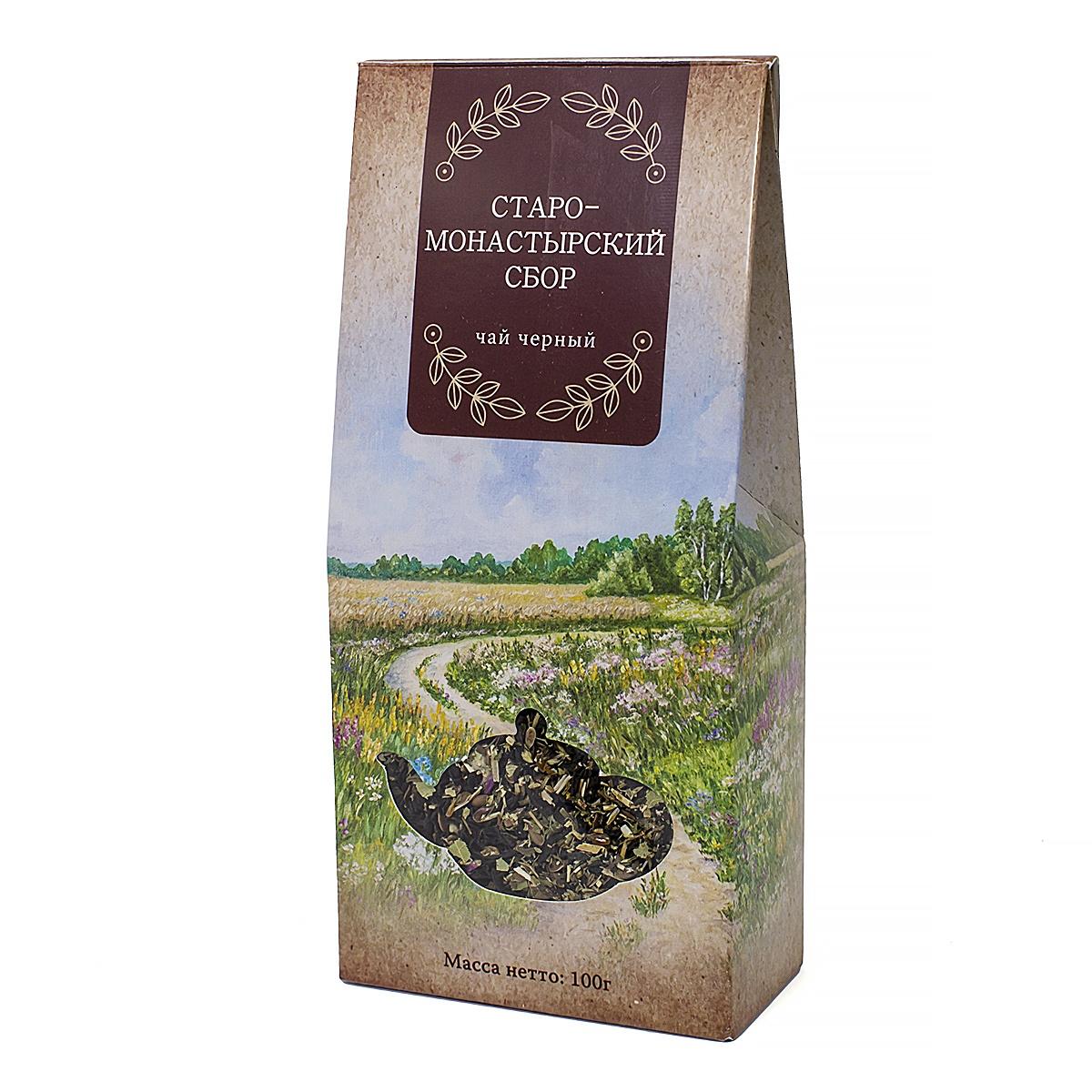 Чай чёрный Старомонастырский сбор, 100 г сбор грудной 3 пачка 50 г здоровье