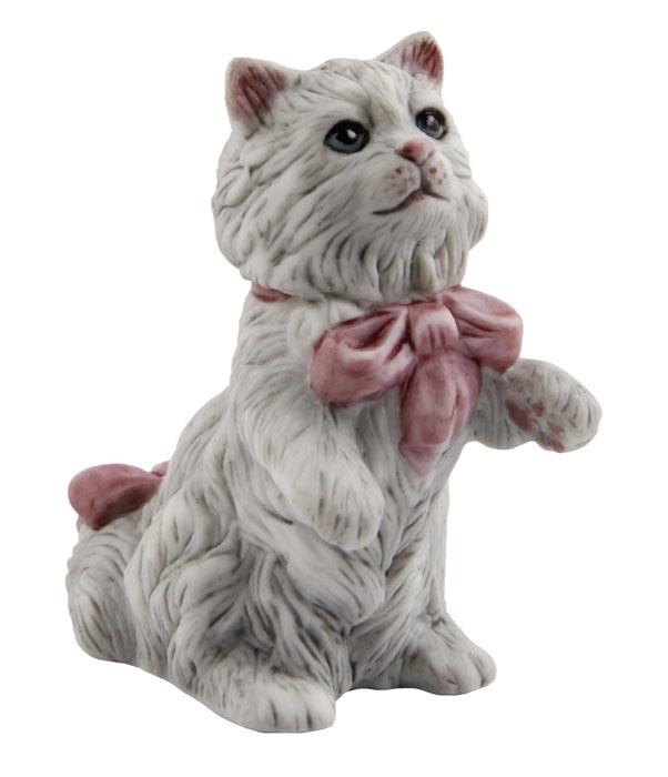 Статуэтка Кошка в бантах. Фарфор, роспись. The Franklin Mint, США, конец XX века статуэтка franklin mint кошка серый
