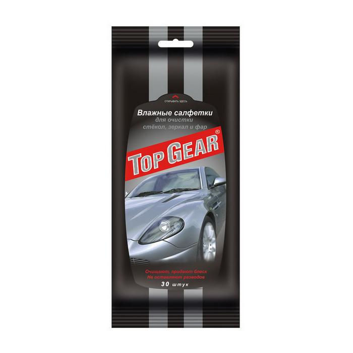Салфетки автомобильные влажные Top Gear 48038 салфетки влажные top gear 30 шт антибактериальные