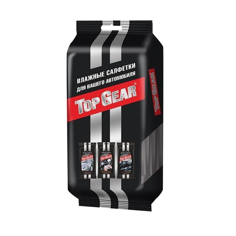 Салфетки автомобильные влажные Top Gear 48078 gazoiler gc215 влажные салфетки для ухода за интерьером автомобиля 30 шт