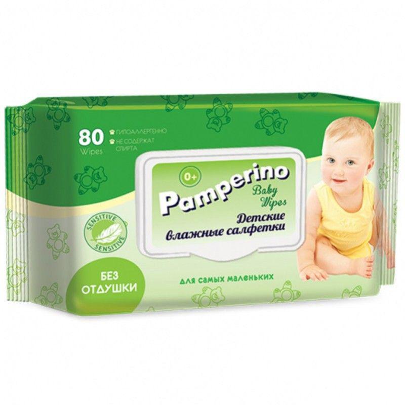 Влажные салфетки PAMPERINO 30409 влажные салфетки pamperino 80 детские без отдушки pamperino
