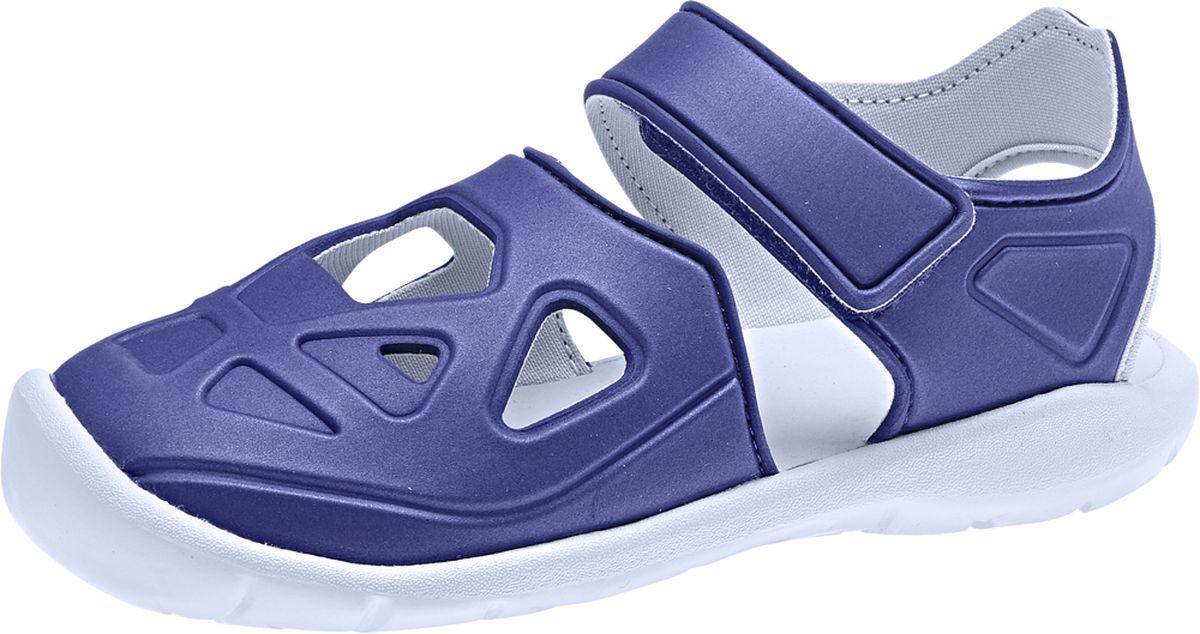 Шлепанцы детские Adidas, цвет: синий. F34800. Размер 29 (18)F34800