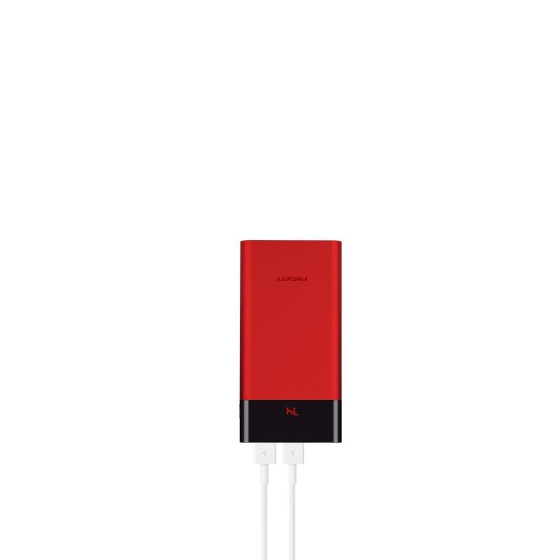 Фото - Внешний аккумулятор Pisen TS-D212, красный внешний аккумулятор pisen ts d186 белый