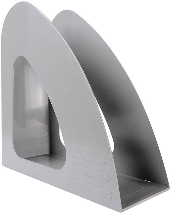 Лоток для бумаг Berlingo Mega Top, вертикальный, MLv_00508, серый футляр для папок формата оптима классик бордовый