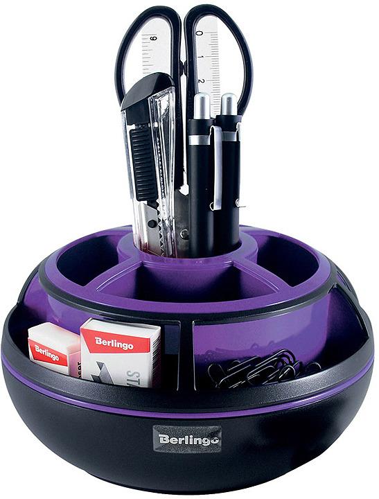 Органайзер настольный Berlingo Apex, MOn_09112, черный, фиолетовый, 9 предметов