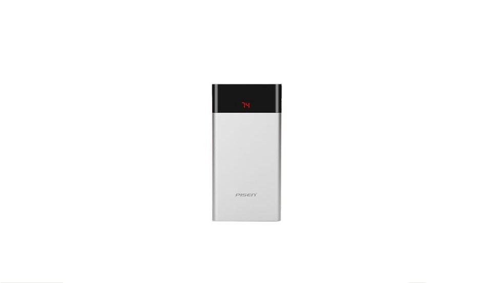 Фото - Внешний аккумулятор Pisen TS-D212, серебристый внешний аккумулятор pisen ts d186 белый