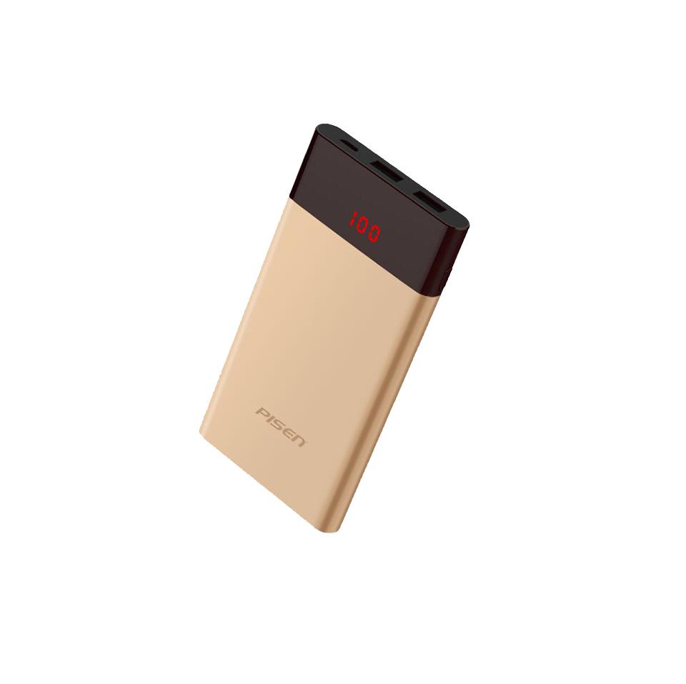 Фото - Внешний аккумулятор Pisen TS-D212, золотой внешний аккумулятор pisen ts d186 белый