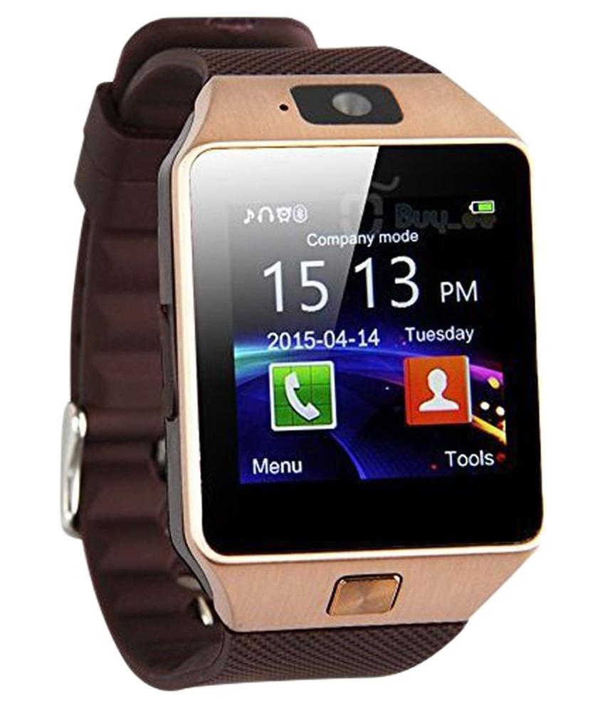 Умные часы DZ09, бронза, коричневый умные часы colmi dz09 bronze