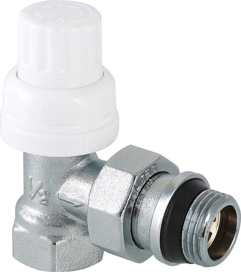 Клапан сантехнический Valtec термостатический для радиатора, угловой 1/2, с дополнительным уплотнением