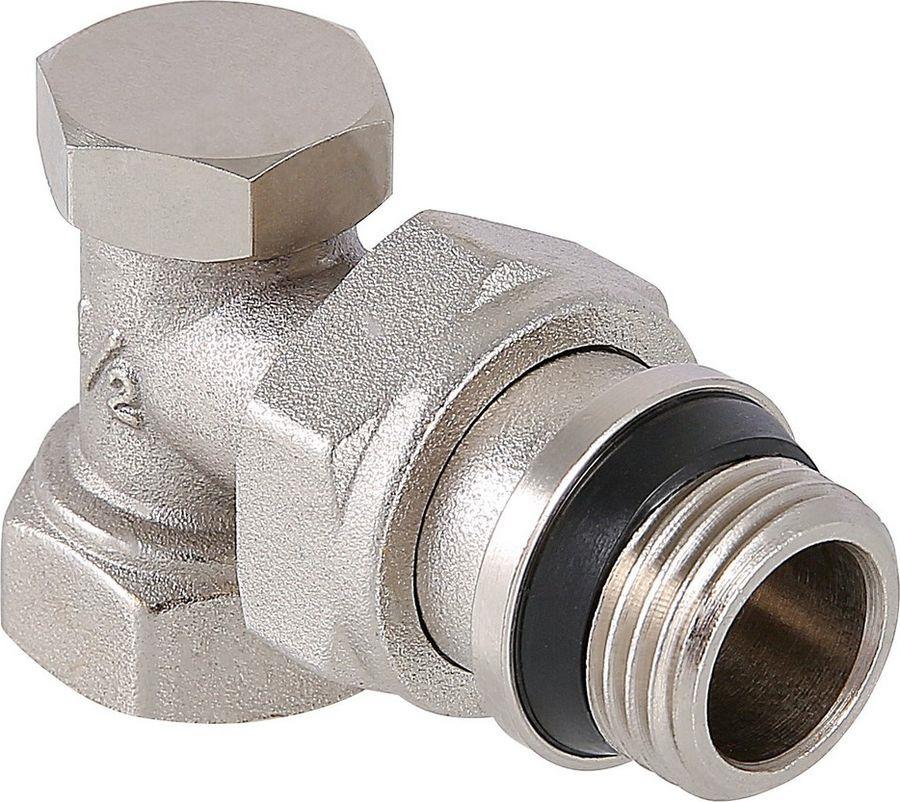 Клапан сантехнический Valtec настроечный, угловой 1/2, с дополнительным уплотнением