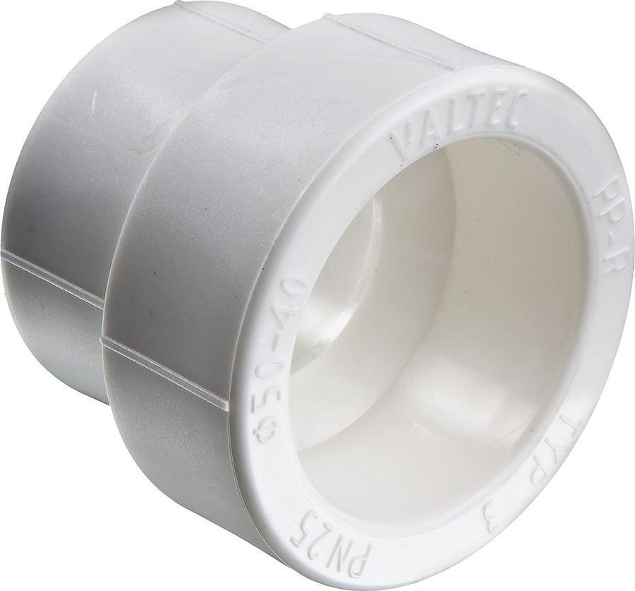 Фитинг сантехнический Valtec переходный, полипропиленовый, 32-20 ммVTp.705.0.032020Фитинг для соединения деталей полипропиленового трубопровода методом раструбной сварки с переходом на другой диаметр.