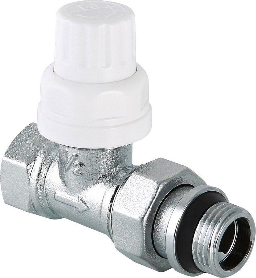 Клапан сантехнический Valtec термостатический для радиатора, прямой 1/2, с дополнительным уплотнением, VT.032.NR.04