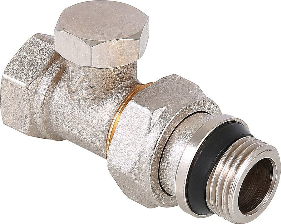 Клапан сантехнический Valtec настроечный, прямой 1/2, с дополнительным уплотнением