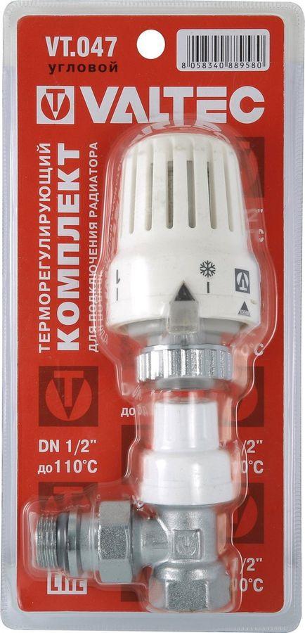 Клапан сантехнический Valtec с термостатической головкой для радиатора, угловой 1/2